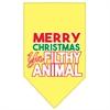 Mirage Pet Products Ya Filthy Animal Screen Print Pet Bandana Yellow Size Small