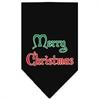 Mirage Pet Products Merry Christmas Screen Print Bandana Black Small