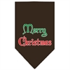 Mirage Pet Products Merry Christmas Screen Print Bandana Cocoa Small