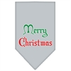 Mirage Pet Products Merry Christmas Screen Print Bandana Grey Small
