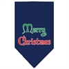 Mirage Pet Products Merry Christmas Screen Print Bandana Navy Blue Small