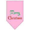 Mirage Pet Products Merry Christmas Screen Print Bandana Light Pink Large