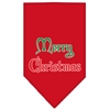 Mirage Pet Products Merry Christmas Screen Print Bandana Red Large