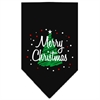 Mirage Pet Products Scribble Merry Christmas Screen Print Bandana Black Large