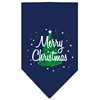 Mirage Pet Products Scribble Merry Christmas Screen Print Bandana Navy Blue large