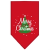 Mirage Pet Products Scribble Merry Christmas Screen Print Bandana Red Large