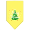 Mirage Pet Products Scribble Merry Christmas Screen Print Bandana Yellow Small