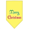 Mirage Pet Products Merry Christmas Screen Print Bandana Yellow Large