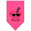 Mirage Pet Products Miso Cool Screen Print Bandana Bright Pink Large