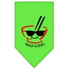 Mirage Pet Products Miso Cool Screen Print Bandana Lime Green Small