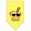 Mirage Pet Products Miso Cool Screen Print Bandana Yellow Large