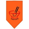 Mirage Pet Products Miso Cute Screen Print Bandana Orange Large