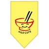 Mirage Pet Products Miso Cute Screen Print Bandana Yellow Small