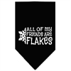 Mirage Pet Products All my friends are Flakes Screen Print Bandana Black Small