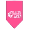 Mirage Pet Products All my friends are Flakes Screen Print Bandana Bright Pink Small