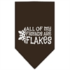 Mirage Pet Products All my Friends are Flakes Screen Print Bandana Cocoa Large