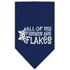 Mirage Pet Products All my friends are Flakes Screen Print Bandana Navy Blue Small