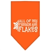 Mirage Pet Products All my friends are Flakes Screen Print Bandana Orange Large