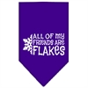 Mirage Pet Products All my Friends are Flakes Screen Print Bandana Purple Small