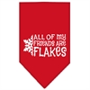 Mirage Pet Products All my friends are Flakes Screen Print Bandana Red Small