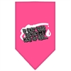 Mirage Pet Products My Kind Of Gas Screen Print Bandana Bright Pink Large