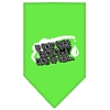 Mirage Pet Products My Kind Of Gas Screen Print Bandana Lime Green Large