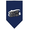 Mirage Pet Products My Kind Of Gas Screen Print Bandana Navy Blue Small