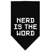 Mirage Pet Products Nerd is the Word Screen Print Bandana Black Large