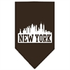 Mirage Pet Products New York Skyline Screen Print Bandana Cocoa Small