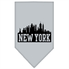 Mirage Pet Products New York Skyline Screen Print Bandana Grey Small