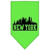 Mirage Pet Products New York Skyline Screen Print Bandana Lime Green Small