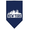Mirage Pet Products New York Skyline Screen Print Bandana Navy Blue large