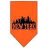 Mirage Pet Products New York Skyline Screen Print Bandana Orange Small