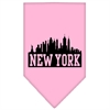 Mirage Pet Products New York Skyline Screen Print Bandana Light Pink Small