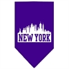 Mirage Pet Products New York Skyline Screen Print Bandana Purple Small