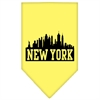 Mirage Pet Products New York Skyline Screen Print Bandana Yellow Small