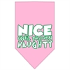 Mirage Pet Products Nice until proven Naughty Screen Print Pet Bandana Light Pink Size Large