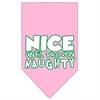Mirage Pet Products Nice until proven Naughty Screen Print Pet Bandana Light Pink Size Large