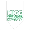 Mirage Pet Products Nice until proven Naughty Screen Print Pet Bandana White Size Large