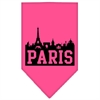 Mirage Pet Products Paris Skyline Screen Print Bandana Bright Pink Large
