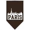 Mirage Pet Products Paris Skyline Screen Print Bandana Cocoa Large
