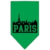 Mirage Pet Products Paris Skyline Screen Print Bandana Emerald Green Small