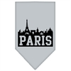 Mirage Pet Products Paris Skyline Screen Print Bandana Grey Small