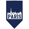 Mirage Pet Products Paris Skyline Screen Print Bandana Navy Blue Small