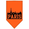 Mirage Pet Products Paris Skyline Screen Print Bandana Orange Large