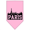 Mirage Pet Products Paris Skyline Screen Print Bandana Light Pink Small