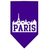 Mirage Pet Products Paris Skyline Screen Print Bandana Purple Large