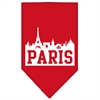 Mirage Pet Products Paris Skyline Screen Print Bandana Red Large