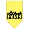 Mirage Pet Products Paris Skyline Screen Print Bandana Yellow Large