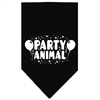 Mirage Pet Products Party Animal Screen Print Bandana Black Large